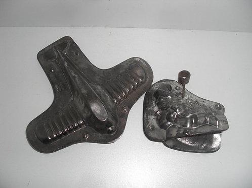 08101 Seltenes Set von 2 antiken Schokoladenformen WALTER BERLIN