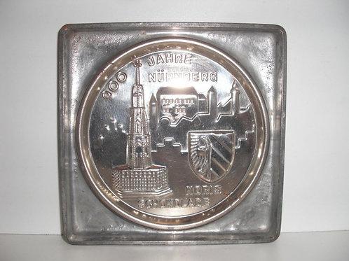 09003 antike Schokoladenflachform aus Metall NORIS SCHOKOLADE