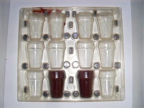 gebrauchte Kunststoff-Schokoladen-Form Nr. 8001