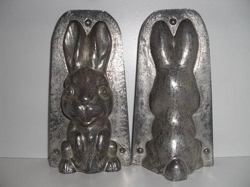 17675 antike Schokoladenform aus Metall Hase ANTON REICHE