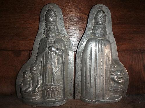 Antike Schokoladenform Bischoff/Weihnachtsmann 28 cm