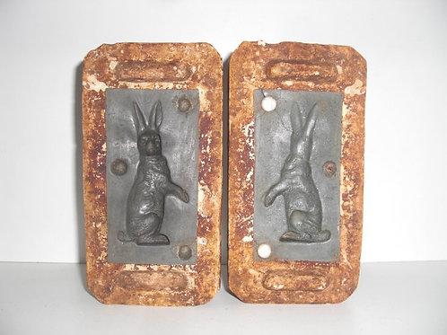 044 Antike 2-teilige Marzipanform aus Schwefelstein / Gips
