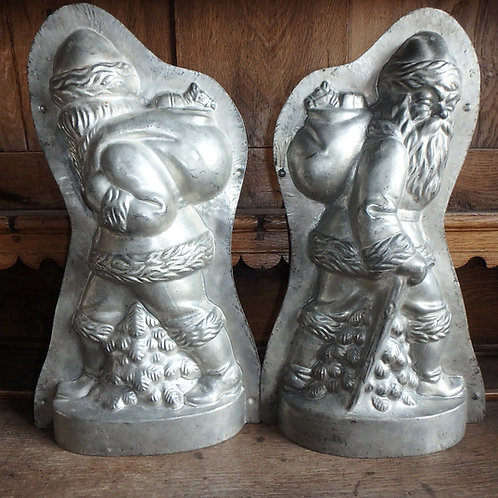Antike Schokoladenform Weihnachtsmann/Nikolaus 51 cm