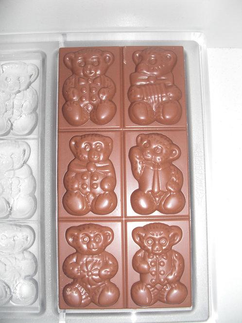 ANTON REICHE Tafel 6x Teddy Bär No. 194-044