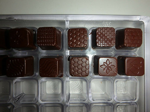 NEUE SCHOKOLADENFORM 6 x 10 PRALINE NEW polycarbonate chocolate mold # 375