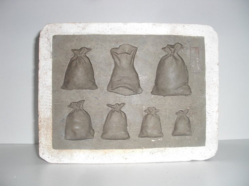 039 Antike 1-teilige Marzipanform aus Schwefelstein / Gips