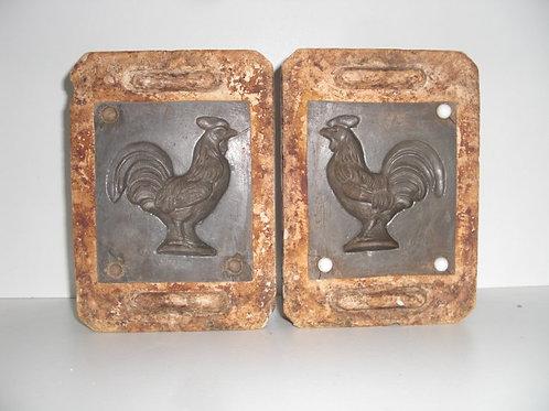 049 Antike 2-teilige Marzipanform aus Schwefelstein / Gips