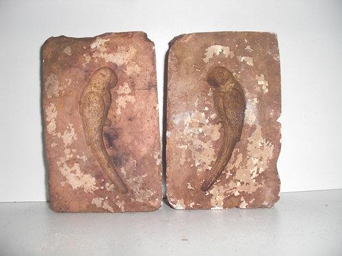 024 Antike 2-teilige Marzipanform aus Schwefelstein / Gips