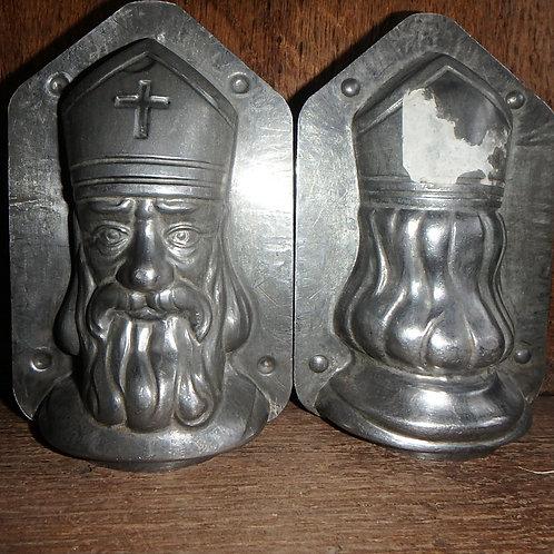 Antike Schokoladenform Nikolauskopf