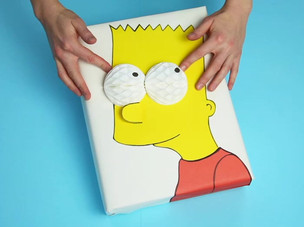 Bart Simpson Gift Wrap