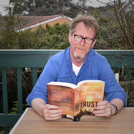 Chris Hammer's coffee habit, quitting his day job and writing Trust