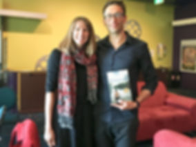 Maya Linnell meets author Mark Brandi