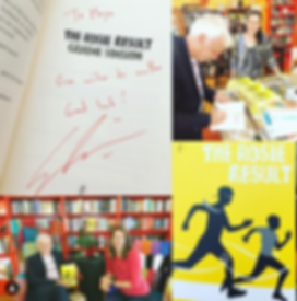 Maya Linnell with Graeme Simsion