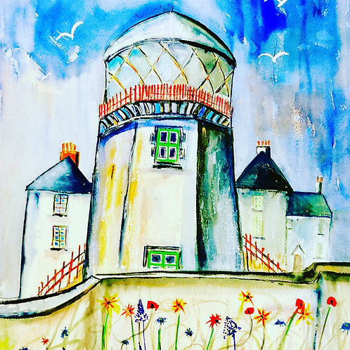 Spring time at the Lighthouse ( greeting card)