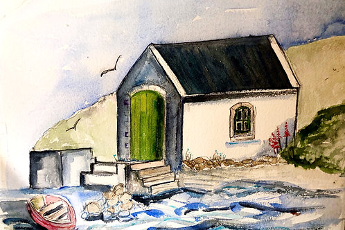 Ballintoy Boat House ( Greeting Card)
