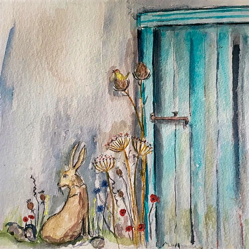 The Blue Door (Greeting Card)