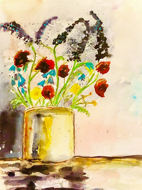 Pretty in a paint pot ( signed print)