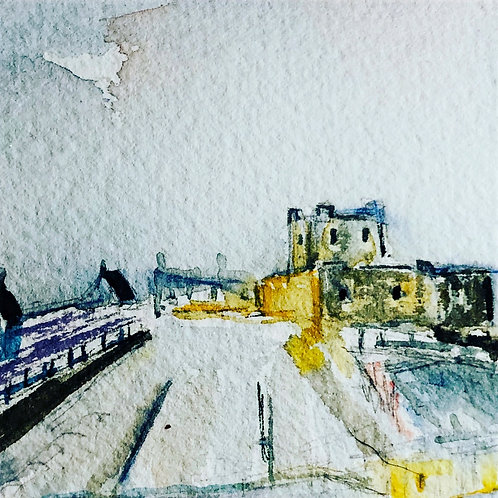 STUDY OF CARRICKFERGUS CASTLE , Co Antrim
