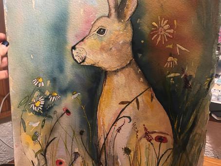 "Reworking my""Wildflower Hare"""