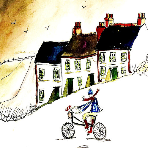 A bike ride in Gleno village, Co Antrim