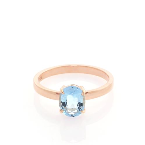9ct Rose GoldAquamarineDress Ring.