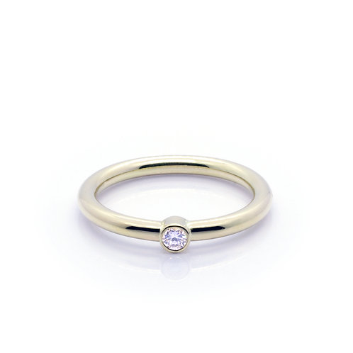 18ct Gold and Diamond Friendship Ring.