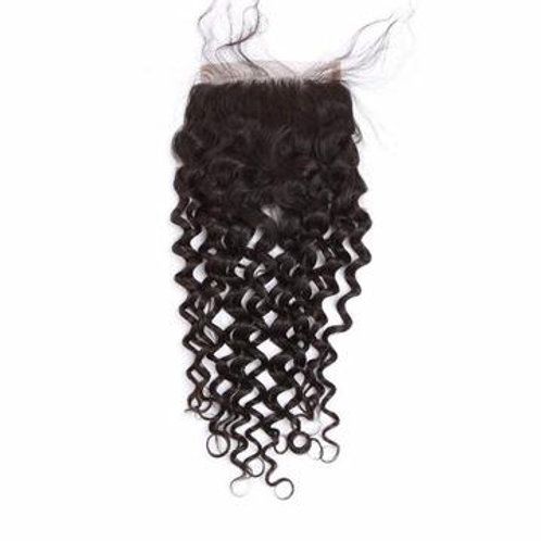 4x4 Deep Wave HD Seamless Lace Closure