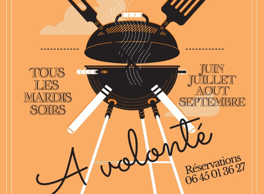 La saison des célèbres BBQ des Tourelles est lancée. On vous attend les mardis soirs...