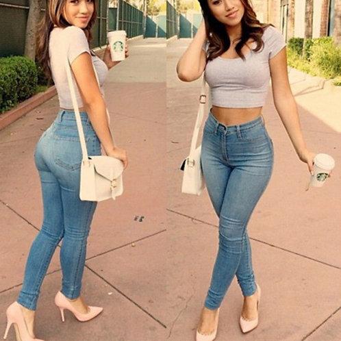 Denim Mid Waist Jeans