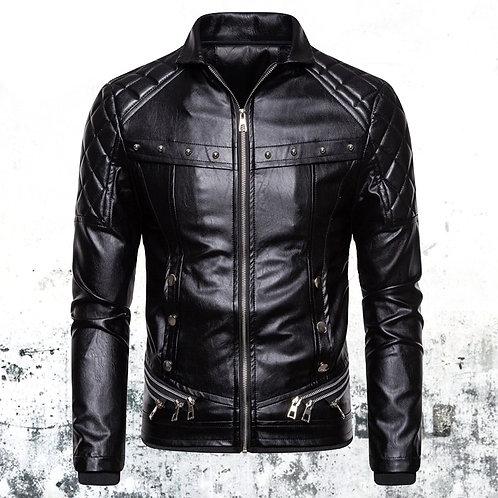 Leather Jacket (Fur Collar)