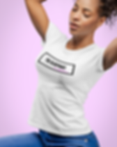 tee-mockup-of-a-pretty-woman-fixing-her-