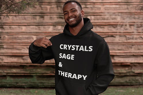 Crystals, Sage & Therapy Unisex Hoodie