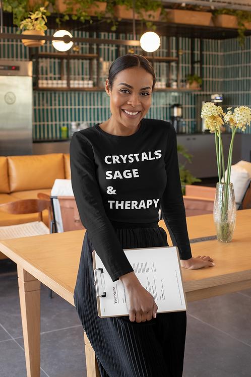 Crystals, Sage & Therapy Unisex Crew Neck Sweatshirt