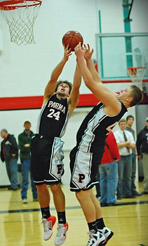 Zach basketball rebound for Parma High School