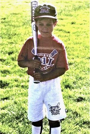 Zach plays baseball