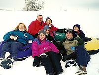Marti Cazier Natalie Shawn Snow Sledding