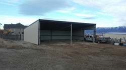 Calving shed in Rush Valley