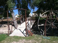 Backyard Bridge in Mayfield