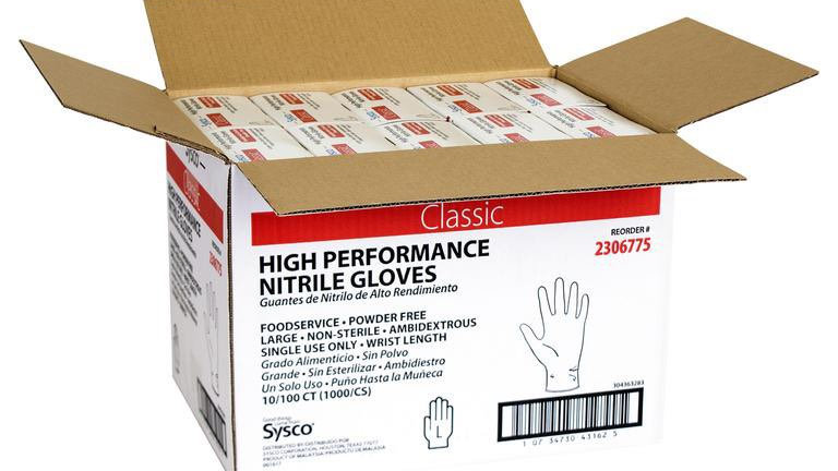100 Gloves, Blue High Performance Nitrile Disposable Gloves