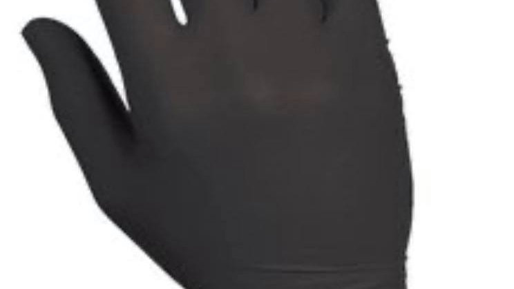 100 Black Gloves, High Performance Nitrile Disposable Gloves