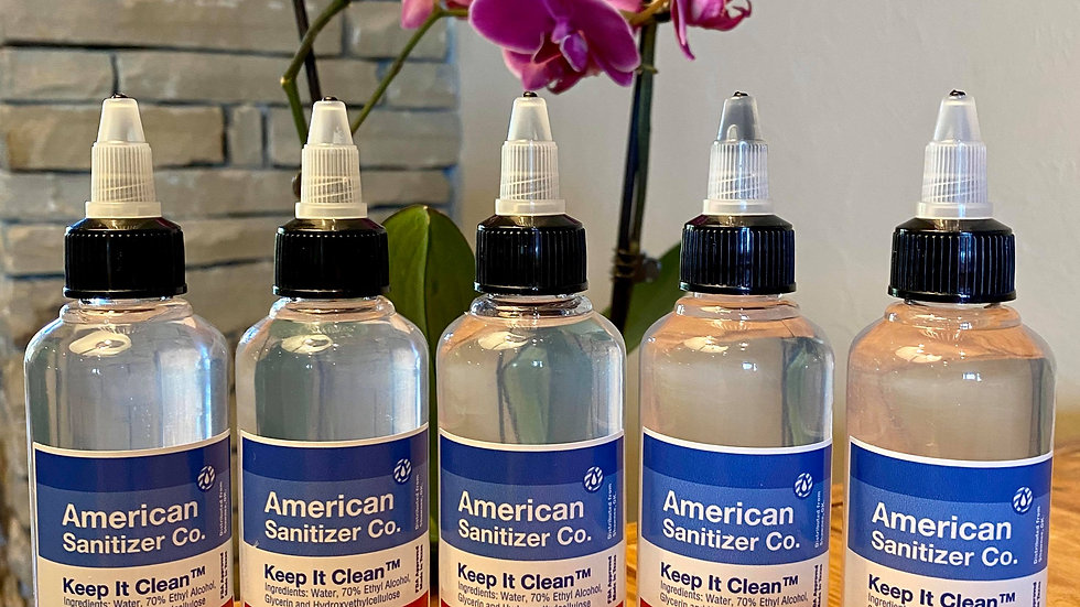 5 pack of 110ml Hand Sanitizer Gel 3.6oz FDA Approved Made in Texas 70% Alcohol
