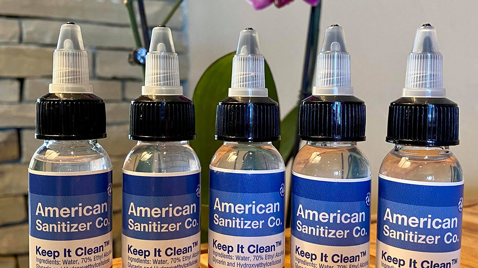 5 pack of 35ml Hand Sanitizer Gel 1.2oz FDA Approved Made in Texas 70% Alcohol