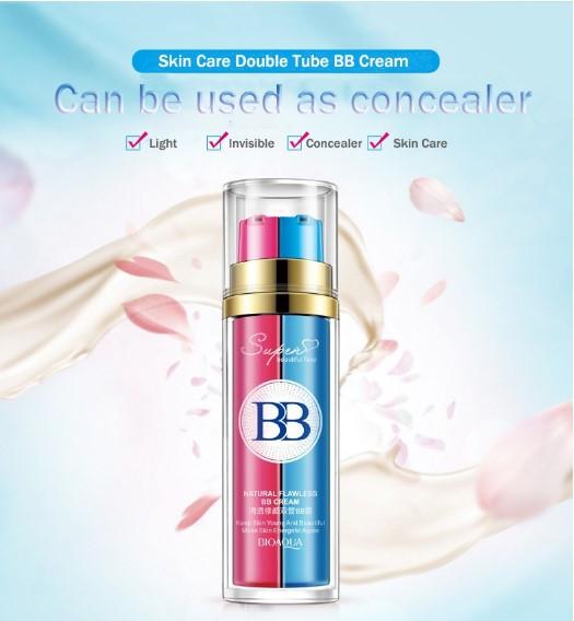 BIOAQUA קרם BB לכל סוגי העור, קרם לחות ומייק אפ בבקבוק אחד, לשימוש יחד או בנפרד.