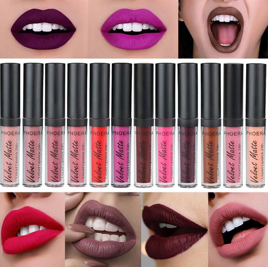 Gilmore Beauty - PHOERA Waterproof Liquid Matte Velvet Lipstick Long Lasting Lip Gloss