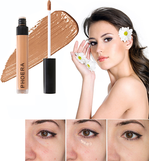 Gilmore Beauty - PHOERA Full Cover Liquid Concealer Foundation Eyes Dark Circles Scars Acne Cover
