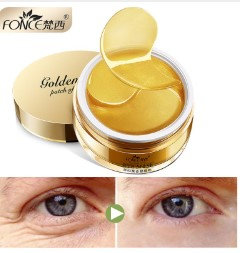 Gilmore Beauty - Fonce 24K Gold Crystal Collagen Gel Eye Mask patches Ageless Sleep Mask Remover Wrinkle Anti Age Bag Eye