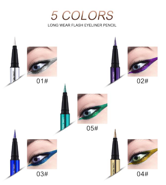 """איליינר עמיד בצבעים מושלמים, עמיד לשעות רבות ונוח לשימוש     UCANBE Shimmer Flash Liquid Eyeliner Pencil   47 ש""""ח ב-ל-ב-ד!!"""