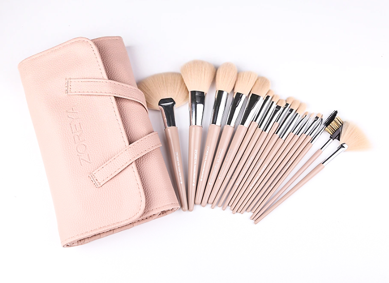 Gilmore Beauty - ZOREYA 18pcs Cruelty Free Soft Synthetic Hair Makeup brushes