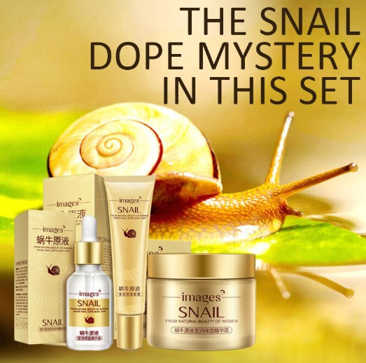 Gilmore Beauty - IMAGES  Snail Face Skin Care Set Day Cream, Essence, Eye Cream Anti Aging