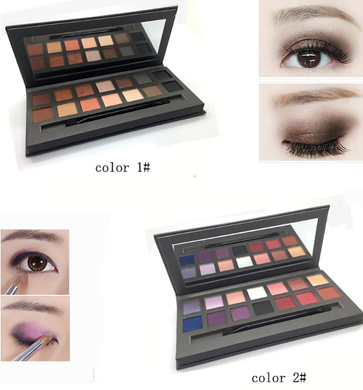 Gilmore Beauty - Miss Doozy Palette Fashion Best Balm Eyeshadow Palette Makeup Nudes Matte & Shimmer 14 Color